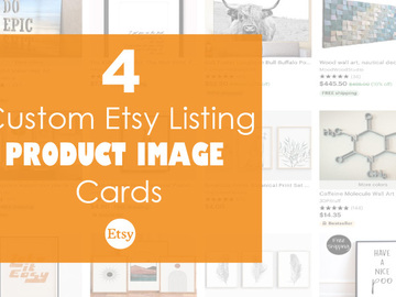 Offering online services: 4 Custom Etsy Listing Product Image Cards