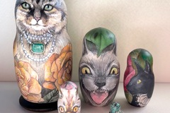For Sale: One of a kind painted Matryoshka