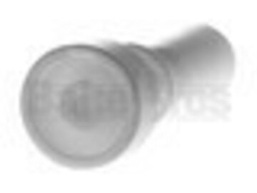 """Post Products: 10mm Nail Ceramic 2"""" Tall 2 Ring Grip White Female"""