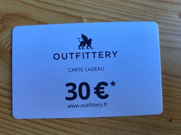 Vente: Bon de réduction Outfittery (30€)