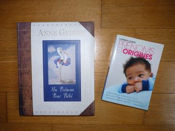 """Vente: Livres Un prénom pour bébé"""" d'Anne Geddes + """"Prénoms et origines"""""""
