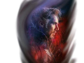 Tattoo design: Marvel - Dr. Strange (side profile)