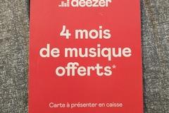 Vente: Carte 4 mois Deezer (40€)