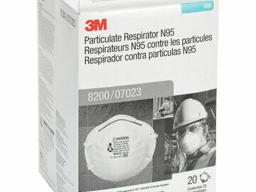 Compra Ahora: AUTHENTIC 3M 8200 NON-VALVE N95 RESPIRATORS EXP 01/25, 2 BOX LOT!