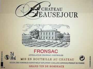 Vente avec paiement en direct: Château Beauséjour FRONSAC 2015