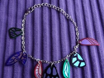 Vente au détail: Bracelet chaine laiton argenté breloques ailes de papillon