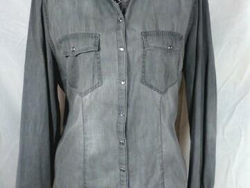 Vente au détail: Chemise grise détail rouages Taille unique
