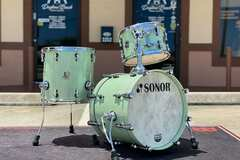 Selling with online payment: Sonor SQ2 Vintage Beech Bop Kit in Mint Sparkle Lacquer 18x14 14x