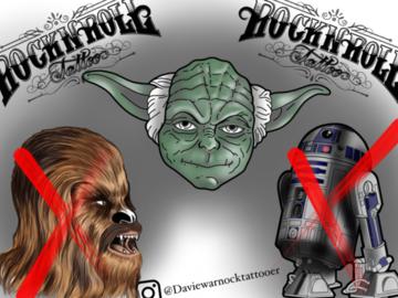 Tattoo design: Yoda