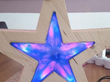 Workshop Angebot (Termine): Glow in the Dark / Holz-Epoxid Stern