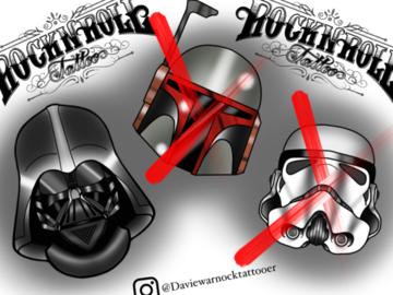 Tattoo design: Darth Vader