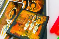For Sale: AFRO ETHNIC WEDDING Ring Box. Greeting Card. Notebook. Bookmark