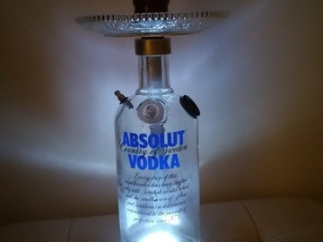 Vente: Chicha customized Vodka ABSOLUT éclairée en Led