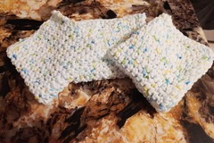 Selling with online payment: Set of 3 Crochet Dishcloths