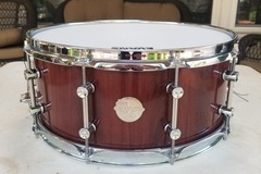 Selling with online payment: Doc Sweeney Royal Ebony Stave Snare Drum 15x6.5
