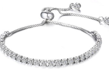 Liquidation/Wholesale Lot: 12 pieces Swarovski Elements Tennis Slider Bracelet our#1 Seller