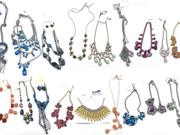 Liquidation/Wholesale Lot: 100 pcs Crystal Necklaces Hundreds Styles  Every Piece Different