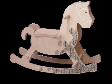 Vente avec paiement en direct: Théobald, le cheval à bascule - Jouet en bois fabriqué en France