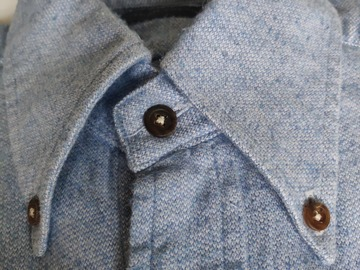 Selling with online payment: Thom Sweeney Flannel shirt Button Down Collar 15/38 XS