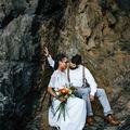 Daily Rental: Sheer V Neck Wedding Gown
