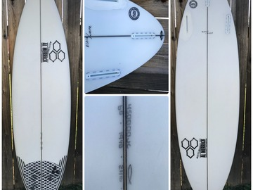 "For Rent: CI Al Merrick Black/White Surfboard 6'0"" x 191/8"" x 25/16"""