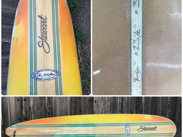 "For Rent: Stewart Longboard Surfboard 9'6"" x 231/2"" x 31/8"""
