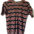 Selling: Black/tan knit top