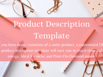 Offering online services: Product Description Template