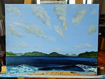 ": Acrylic Painting ""SSW beach"""