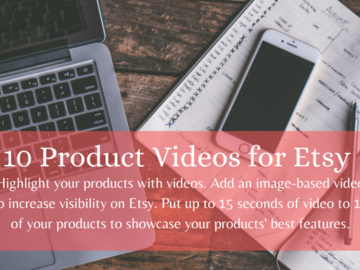 Offering online services: 10 Product Videos for Etsy