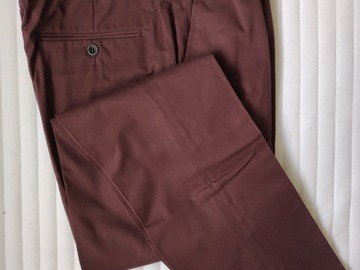 Selling with online payment: Thomas Pink Chino Trousers Burgundy Slim Fit  32
