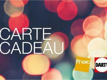 Vente: 5 E-cartes cadeaux Fnac Darty (5x100€)