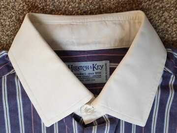 Selling with online payment: NEW!! Hilditch Key Contrast Collar Shirt Slim Fit 15 RRP $210