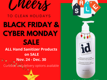 Sell your product: HOLIDAY SALE - One Liter Bottle Hand Sanitizer