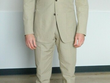 Online payment: Beige linen/cotton suit SuitSupply - 36