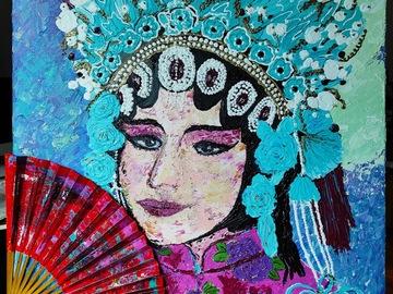 ": Acrylic Painting ""Opera Cantonese in Hong Kong"""