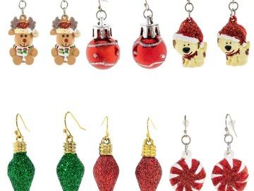 Buy Now: 72 Pairs of Christmas Earrings. 6 Designs