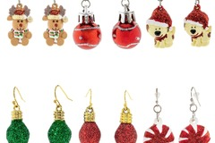Buy Now: 72 Pairs of Christmas Earrings. 6 Designs