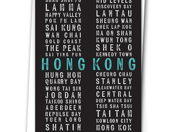 : HONG KONG TYPE (BLACK) - BLANK CARD