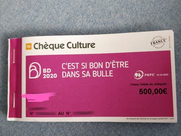 Vente: Chèques Culture (500€)