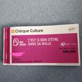 Vente: Chèques Culture (500€)