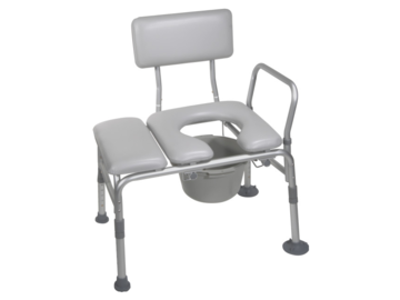 SALE: Drive Medical Combination Padded Transfer Bench/Commode