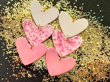 Selling with online payment: Hearts on Fire Earrings