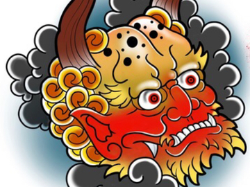 Tattoo design: Hannya II