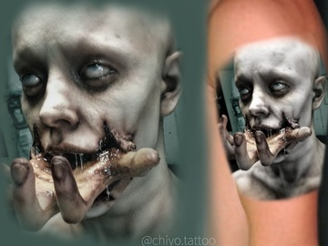 Tattoo design: Horror