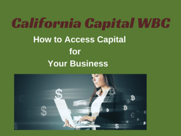 Announcement: How to Access Capital for Your Business - CACap & SBA