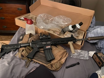 Selling: WE-TECH Open Bolt M4 SOL Carbine GBBR