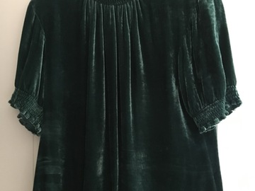 Selling: Beautiful green velvet look top