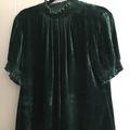 Selling: Beautiful green velvet look top