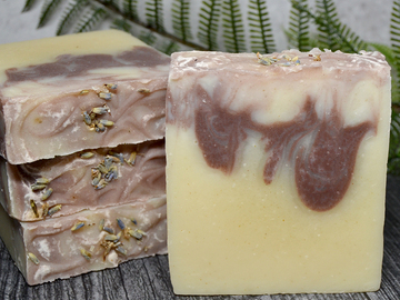 Selling: Soothing Lavender Mango Butter Soap